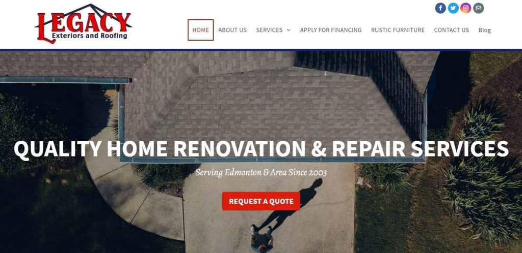Legacy Exteriors and Roofing's Homepage