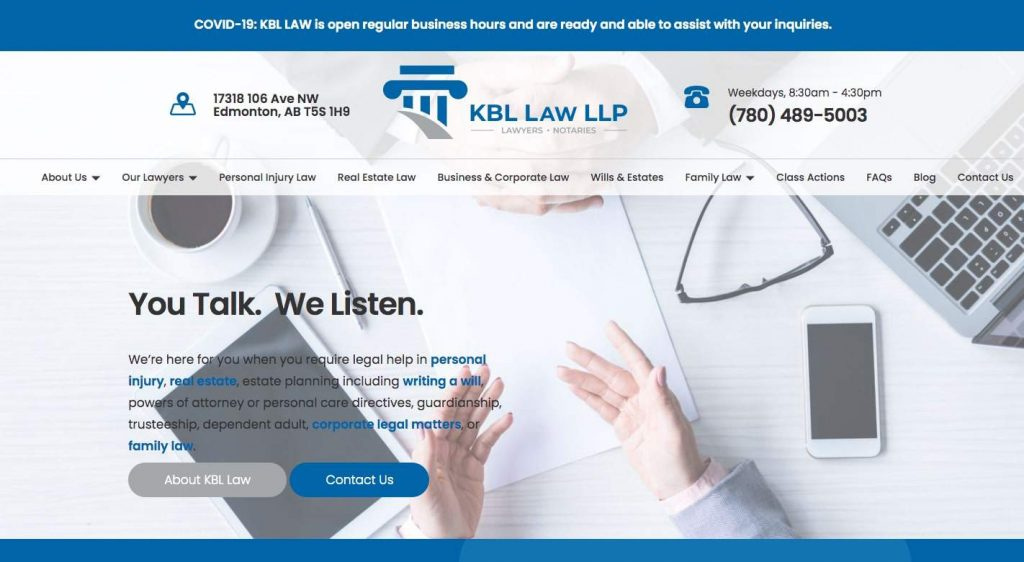 KBL Law LLP's Homepage