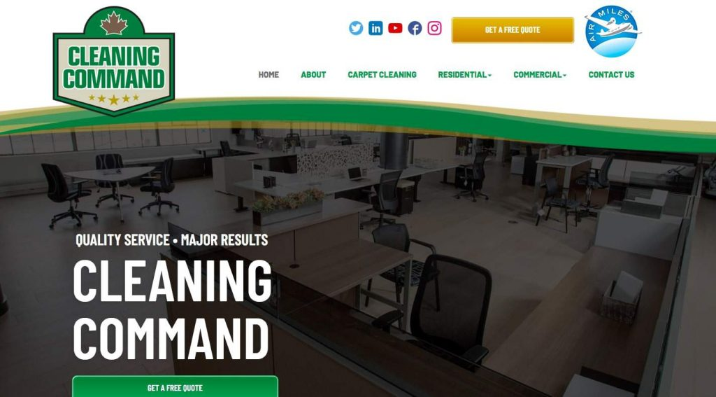 Cleaning Command's Homepage