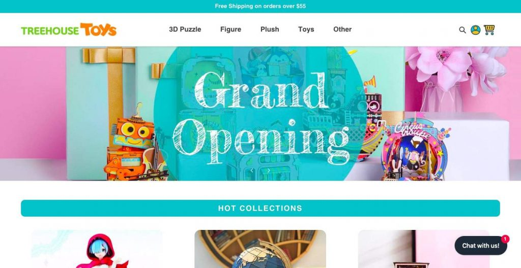 Treehouse Toys' Homepage